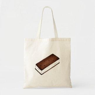 チョコレート・アイス・クリームサンドイッチデザートの食糧戦闘状況表示板 トートバッグ