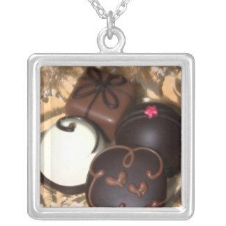 チョコレート・キャンディのバレンタインデーの銀のネックレス シルバープレートネックレス