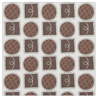 チョコレート・キャンディのバレンタインデーチョコレート生地 ファブリック