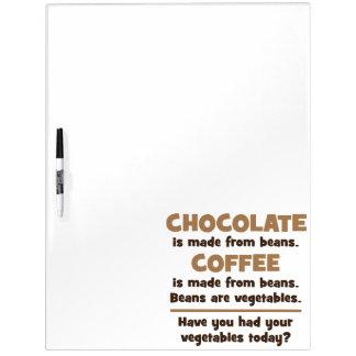 チョコレート、コーヒー、豆、野菜-ノベルティ ホワイトボード
