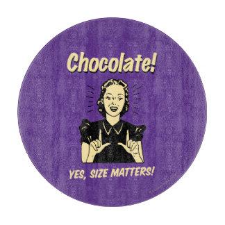 チョコレート: サイズの問題 カッティングボード