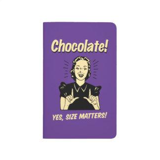 チョコレート: サイズの問題 ポケットジャーナル