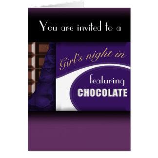 チョコレート・バーの招待状 カード