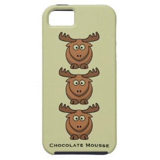 チョコレート・ムースのおもしろいなCatroonのアメリカヘラジカのオオシカ動物 iPhone SE/5/5s ケース
