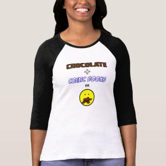 チョコレート + 漫画=幸福のTシャツ Tシャツ