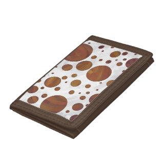 チョコレートCarmelの渦巻の水玉模様