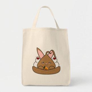 チョコレートHopdropのワッフルのサンデー トートバッグ