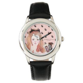 チョコレートJennieの革バンドの腕時計 腕時計