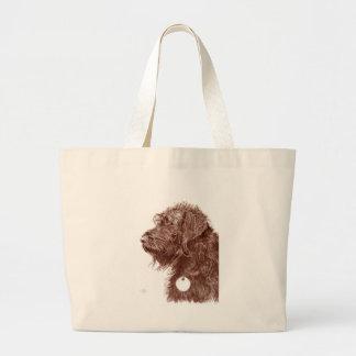 チョコレートLabradoodle ラージトートバッグ