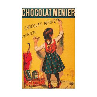 チョコレートMenierのフランスのなヴィンテージ広告 キャンバスプリント