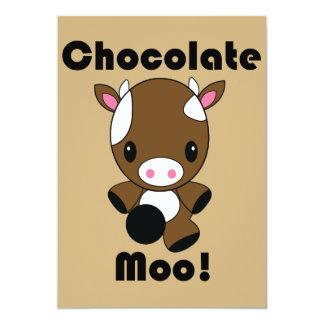 チョコレートMooのかわいい牛招待状 カード
