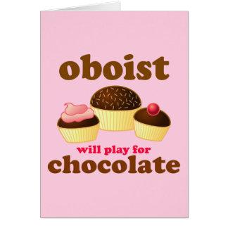 チョコレートOboeおもしろいなカード カード