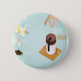 チョコレートSoufflé日-感謝日 5.7cm 丸型バッジ