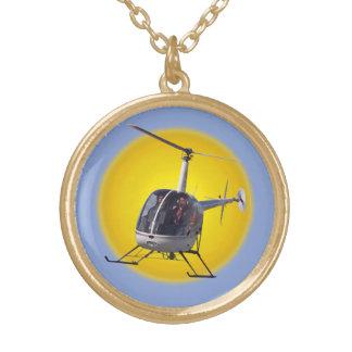 チョッパーのジュエリーを飛ばすヘリコプターのネックレスのカッコいい ゴールドプレートネックレス