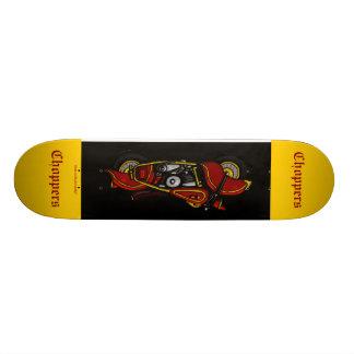 チョッパーのバイクのカッコいいのスケートボードのデザイン スケートボードデッキ
