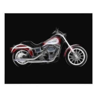 チョッパーのブタのヘビー級選手のオートバイ チラシ