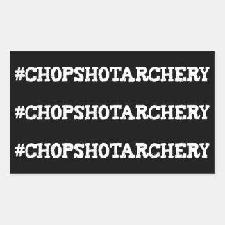 チョップ打撃のアーチェリーのHashtagの肢のステッカー 長方形シール