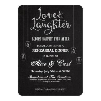 チョークのスタイルのリハーサルの夕食の招待状02 12.7 X 17.8 インビテーションカード