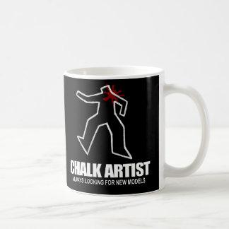 チョークの芸術家のマグ コーヒーマグカップ