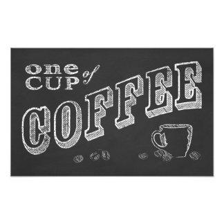 チョークの芸術1杯のコーヒー フォトプリント