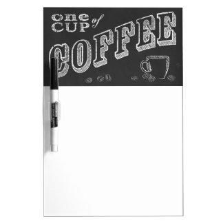 チョークの芸術1杯のコーヒー ホワイトボード