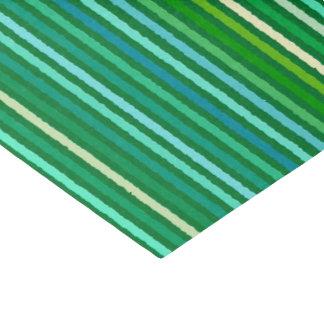 チョークは-ヒスイ緑および水縞で飾ります 薄葉紙