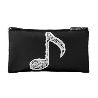 チョーク白い音楽ノートの化粧品のバッグ コスメティックバッグ