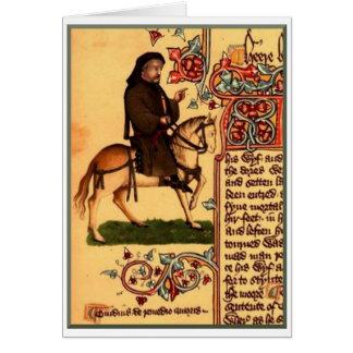 チョーサーの1410年頃エルズミーアの原稿詩人、 カード