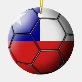 チリのサッカーのオーナメント セラミックオーナメント