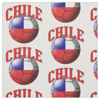 チリのサッカーボールパターンの旗 ファブリック