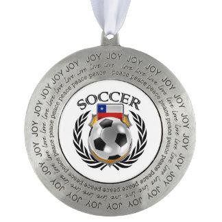 チリのサッカー2016ファンのギア オーナメント