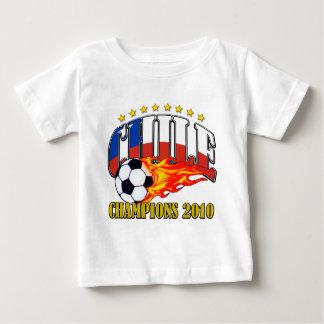 チリのサッカー ベビーTシャツ