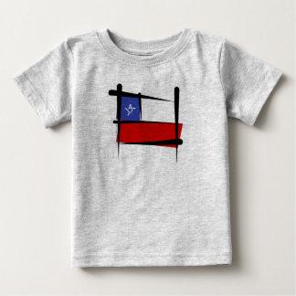 チリのブラシの旗 ベビーTシャツ