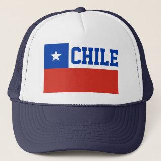 チリの世界の旗の文字 キャップ