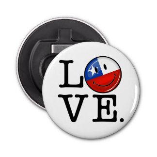 チリの微笑のチリの旗からの愛 栓抜き