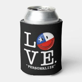 チリの微笑のチリの旗からの愛 缶クーラー