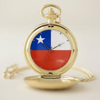 チリの愛国心が強い壊中時計の旗 ポケットウォッチ