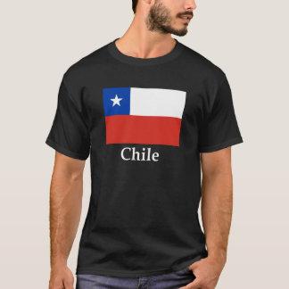 チリの旗および名前 Tシャツ
