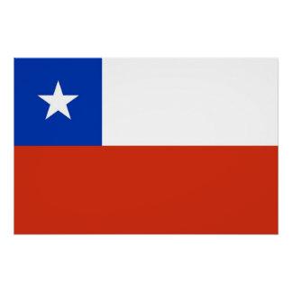 チリの旗が付いている愛国心が強いポスター ポスター