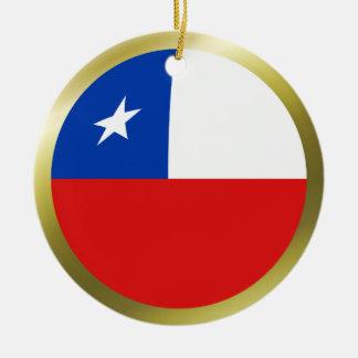 チリの旗のオーナメント セラミックオーナメント