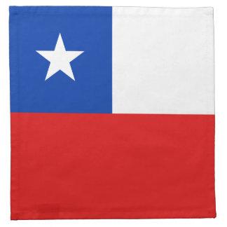 チリの旗のナプキン ナプキンクロス
