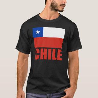 チリの旗の赤の文字 Tシャツ