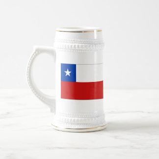 チリの旗の~の地図のマグ ビールジョッキ