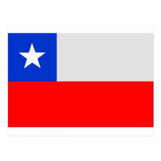 チリの旗 ポストカード