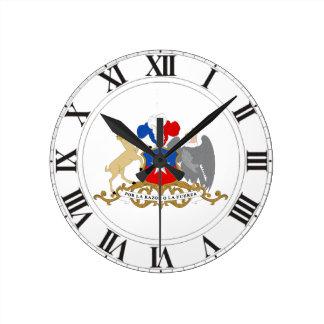 チリの紋章付き外衣 ラウンド壁時計