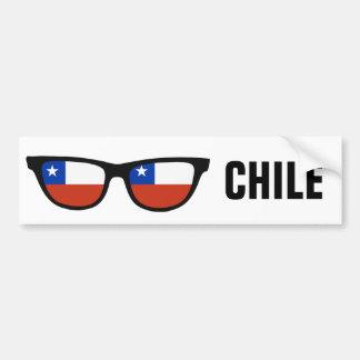 チリはカスタムな文字及び色のバンパーステッカーを影で覆います バンパーステッカー