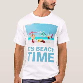 チリペッパーのビーチの時間おもしろいなカスタマイズ可能 Tシャツ