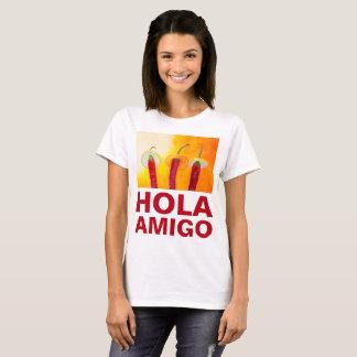チリペッパーのHolaの友達のおもしろいなカスタマイズ可能 Tシャツ