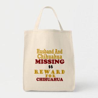 チワワのためのチワワ及び夫の行方不明の報酬 トートバッグ
