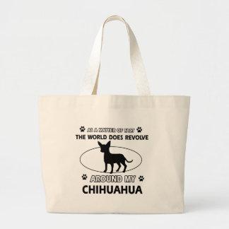 チワワのデザイン ラージトートバッグ